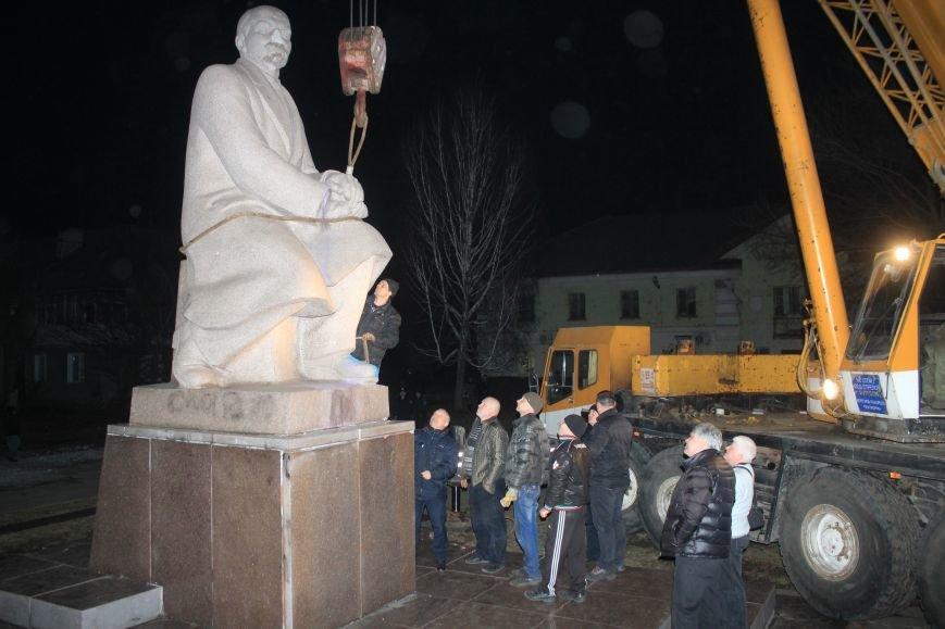 В Днепродзержинске демонтировали памятник Ленину на Соцгороде, фото-4