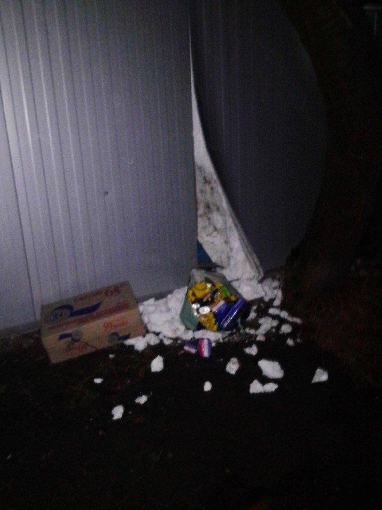 На Тернопільщині чоловіка, який намагався обкрасти магазин, затримали