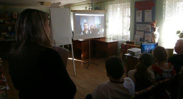 У Слов'янській дитячій бібліотеці відбулось скайп-спілкування із дітьми з Калуша (фото) - фото 1