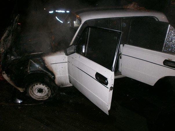 В Днепродзержинске горел ВАЗ (фото) - фото 1