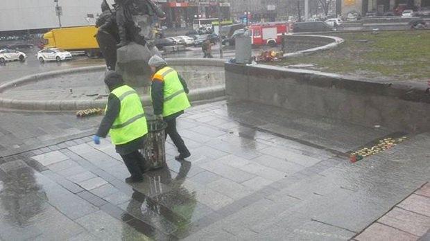 На Майдане коммунальщики демонтируют палаточный городок (ФОТО) (фото) - фото 4