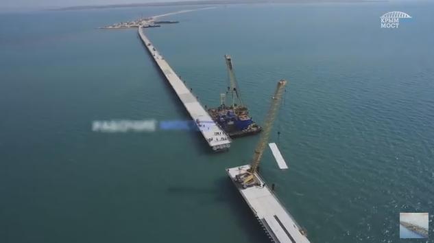 Опубликовано новое видео строительства моста в Крым (фото) - фото 1
