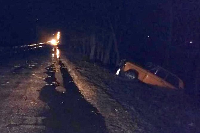 В Шебекинском районе ВАЗ вылетел в кювет и врезался в дерево (фото) - фото 1