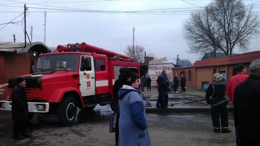 Пожар на Центрально-Городском рынке (ФОТО) (фото) - фото 1