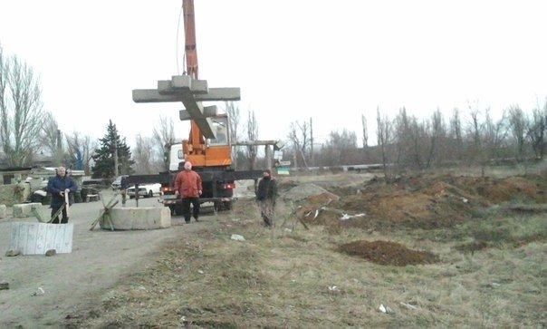 На въезде в Авдеевку установлен поклонный крест (ФОТО), фото-1