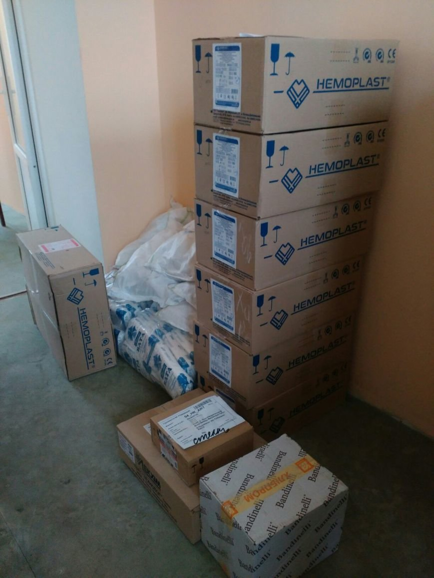 В ЦРБ Бахмута доставили гуманитарную помощь (фото) - фото 1