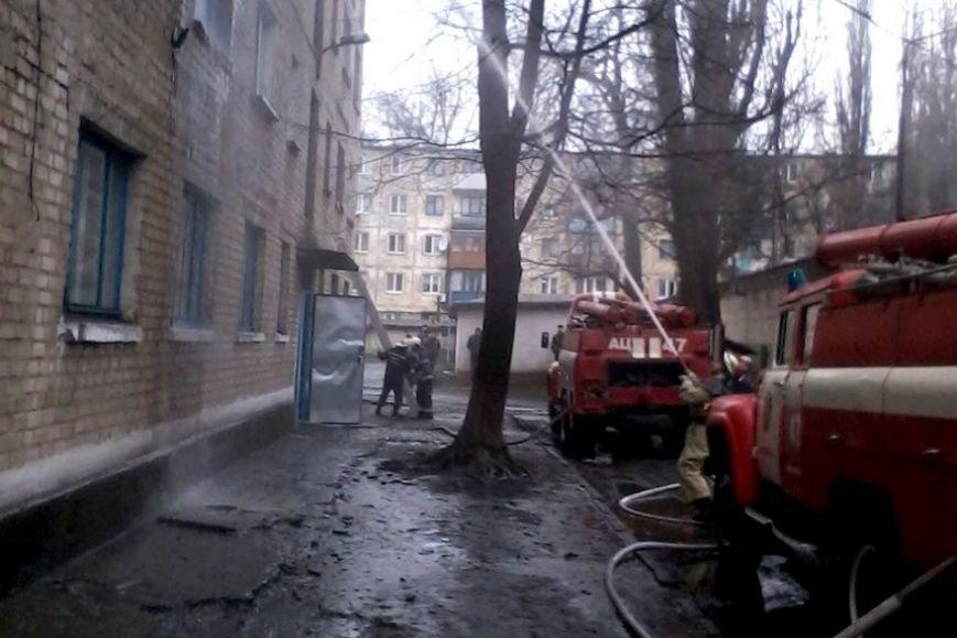 """В Першотравенске горело общежитие шахты """"Степная"""", фото-1"""