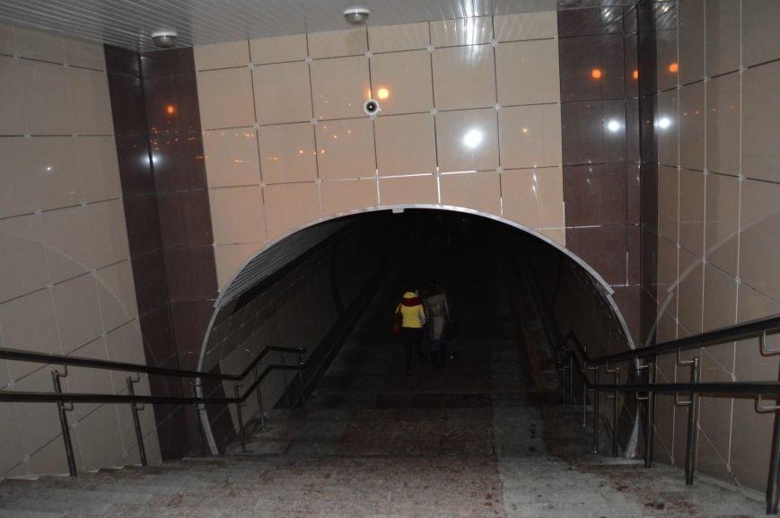 В подземном переходе в центре Витебска не горит освещение, фото-1