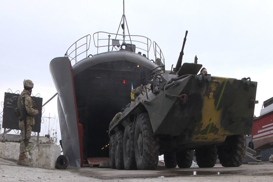 320feb3ede9013f00cfc84025c8e588c В Одесской области высадились морские пехотинцы