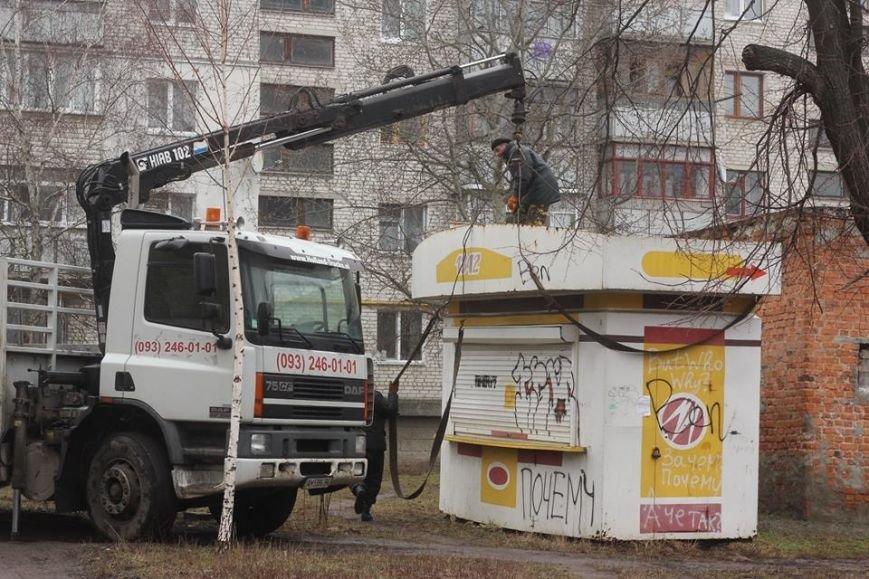 В Житомире продолжают демонтировать незаконно установленные временные сооружения, фото-3