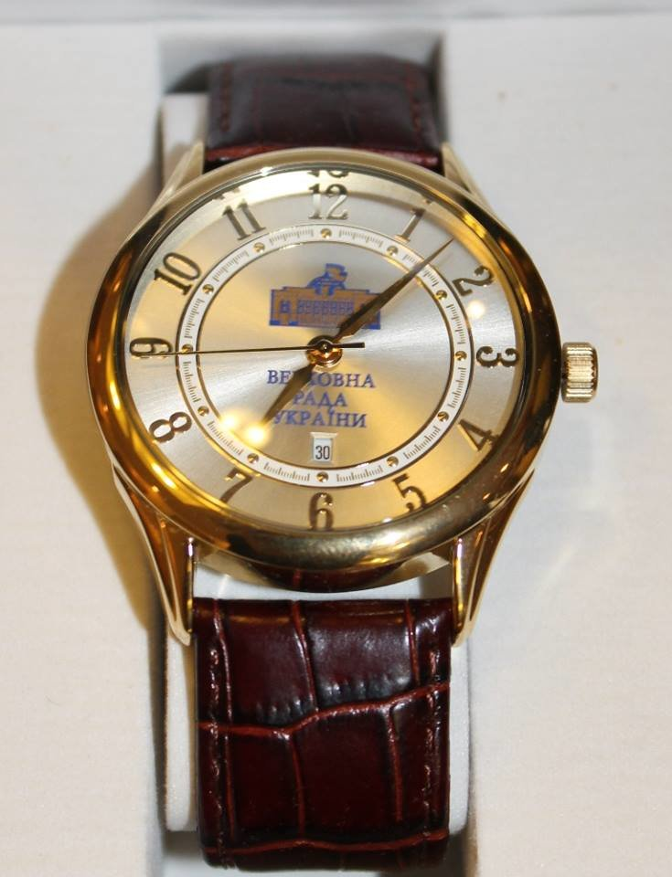 Михайло Рівіс вручив іменний парламентський годинник Михайлу Поповичу (фото) - фото 2