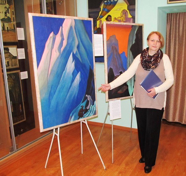 Школьники посетили выставку картин Николая Рериха в музее космонавта Г.Берегового, фото-3