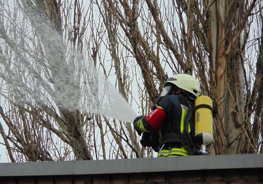На территории мариупольского отдела полиции тушили импровизированный  пожар (ФОТО), фото-4