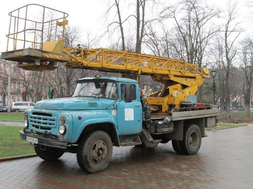 bbf5643b19bb36c856ee53853e55b3fd В Одессе на Соборной площади пилят деревья