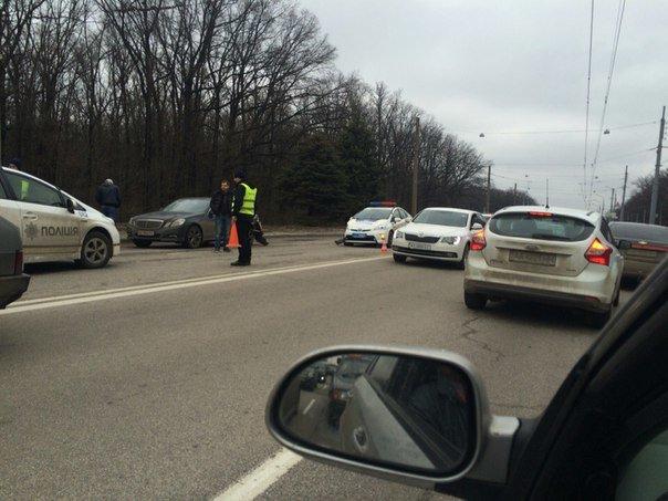 Возле лесопарка очередная машина патрульной полиции попала в аварию (ФОТО) (фото) - фото 1
