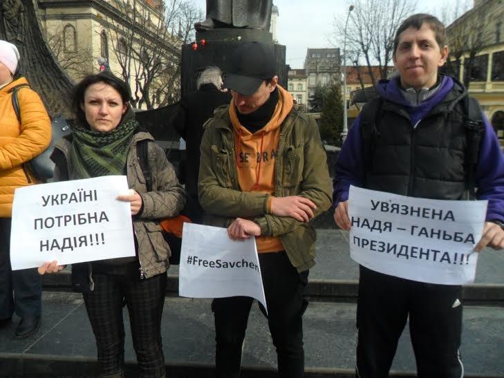 """""""Надіє, живи!"""": львів'яни вийшли на підтримку Надії Савченко (ФОТО), фото-2"""