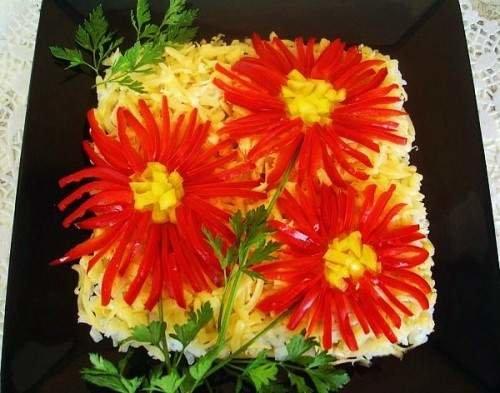 Макеевчанкам к празднику: топ-10 салатов-цветов (фото) - фото 4