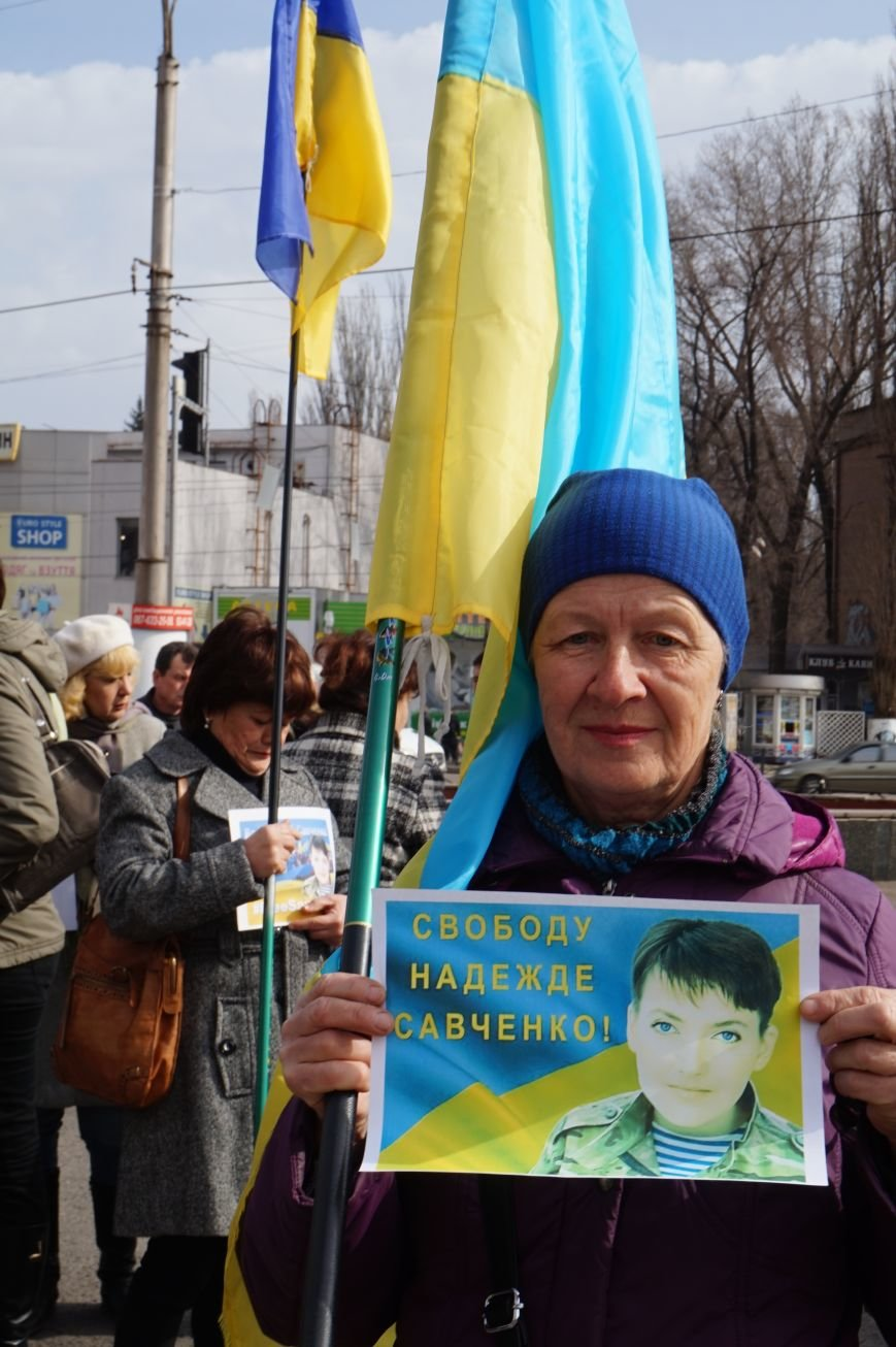 """Путін, ти с**ло: воюєш із жінками"":  криворожане вышли на акцию в поддержку Надежды Савченко (ФОТО), фото-15"