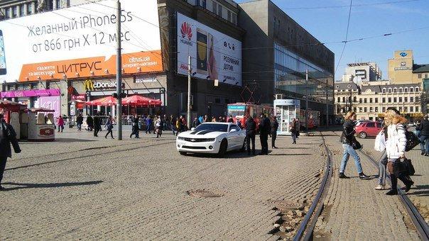 В центре Днепропетровска полицейские оштрафовали
