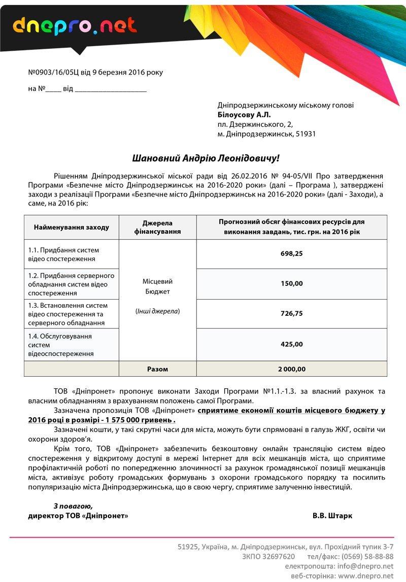 Днепродзержинский интернет-провайдер предлагает городскому голове сэкономить 1 млн 575 тыс грн бюджетных средств (фото) - фото 1