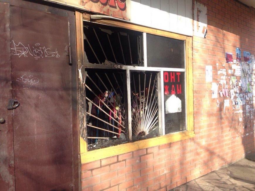 В Черноморске горел комиссионный магазин