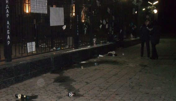 В Киеве полиция начала производство из-за попытки поджога посольства РФ (ФОТО) (фото) - фото 2