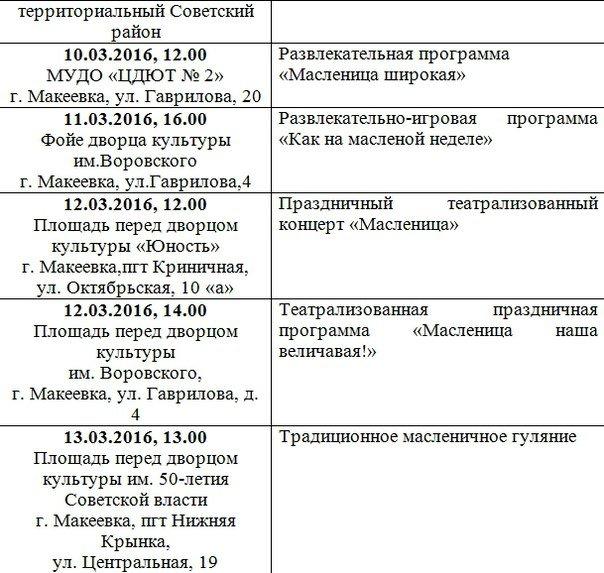 Масленицу будут отмечать во всех районах Макеевки (полная афиша мероприятий) (фото) - фото 3