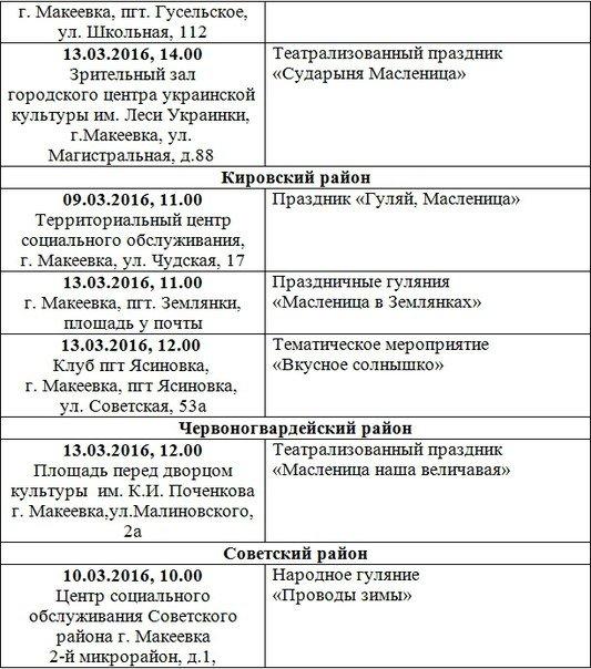 Масленицу будут отмечать во всех районах Макеевки (полная афиша мероприятий) (фото) - фото 2