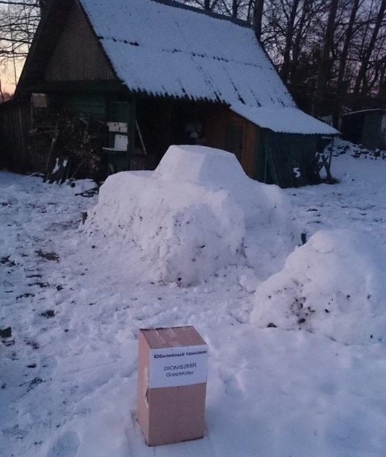 (не готово) Новополочане лепят танки из снега и выигрывают призы от World of Tanks (фото) - фото 3
