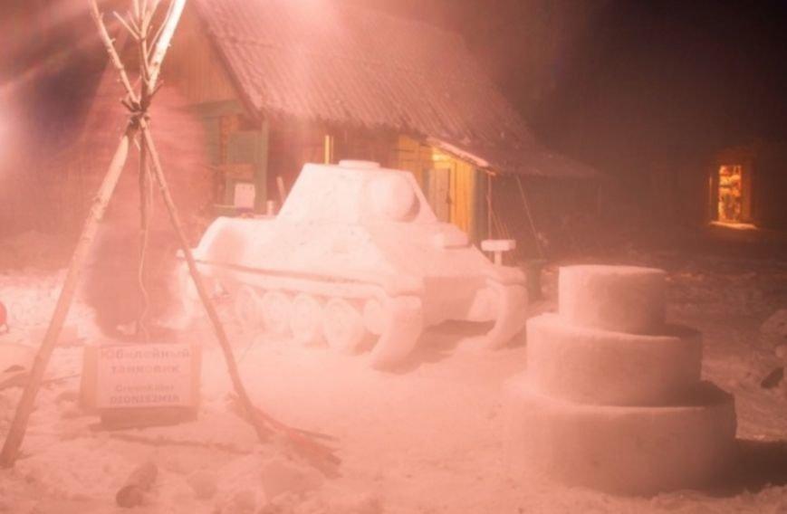 (не готово) Новополочане лепят танки из снега и выигрывают призы от World of Tanks (фото) - фото 6