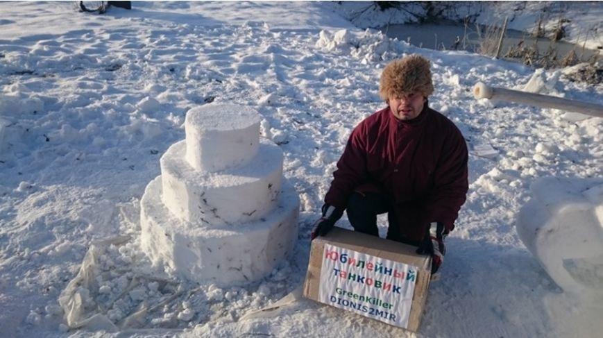 (не готово) Новополочане лепят танки из снега и выигрывают призы от World of Tanks (фото) - фото 5