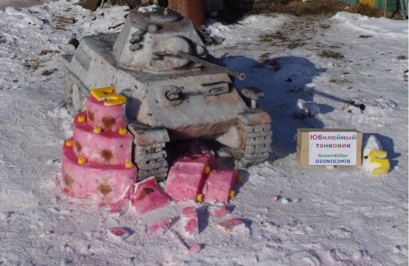 (не готово) Новополочане лепят танки из снега и выигрывают призы от World of Tanks (фото) - фото 10
