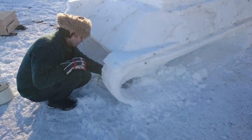 (не готово) Новополочане лепят танки из снега и выигрывают призы от World of Tanks (фото) - фото 4