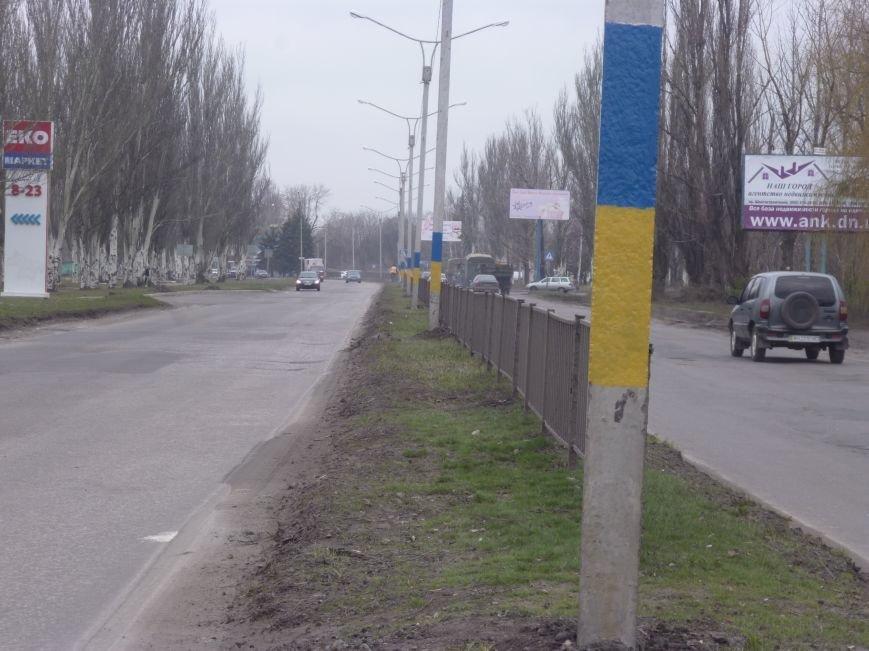 Красноармейск решили сделать патриотичнее: начали с фонарных столбов (фото) - фото 1