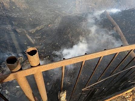 В Мариуполе огонь, спаливший камыши, чуть не подобрался к заправкам (Фотофакт), фото-12