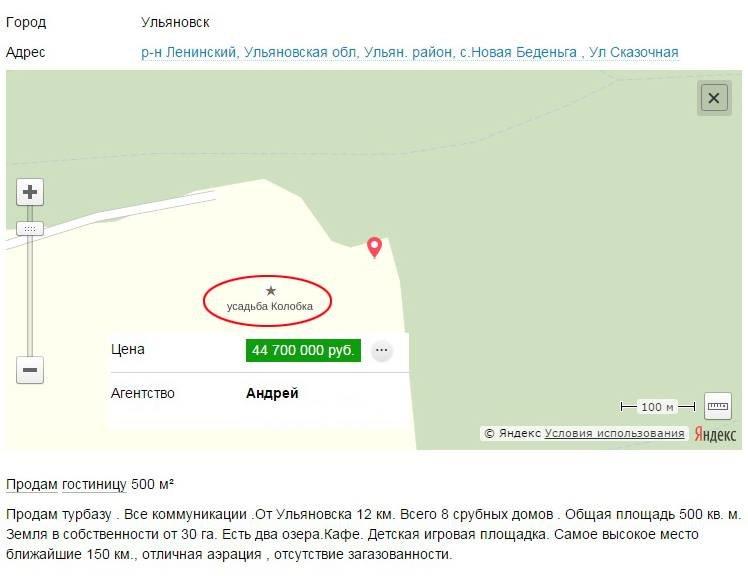 В Ульяновске «Усадьба колобка» продается почти за 45 миллионов (фото) - фото 1