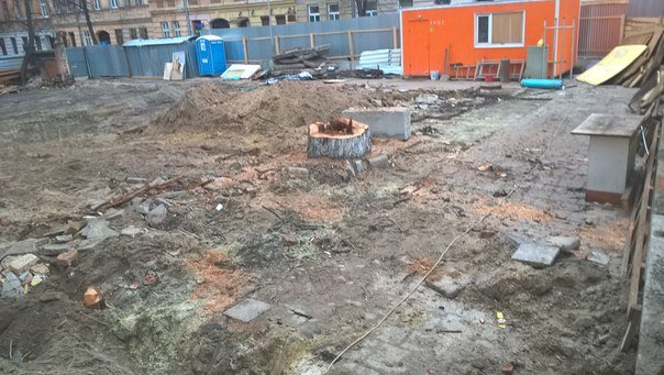 На вул. Личаківській, де незаконно зрізали дерева, зводитимуть багатоквартирний житловий будинок (ФОТО) (фото) - фото 2