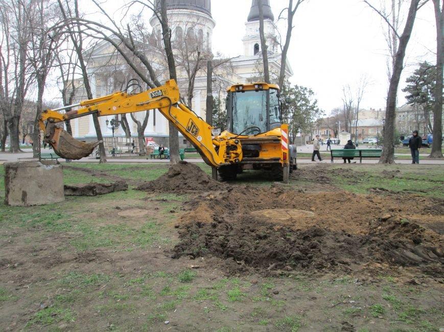 В Одессе на Соборной площади орудует спецтехника (ФОТО), фото-3