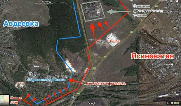 Террористы могут оставить Донецк без воды - фильтровальную станцию обстреляли боевики «ДНР» (КАРТА) (фото) - фото 1