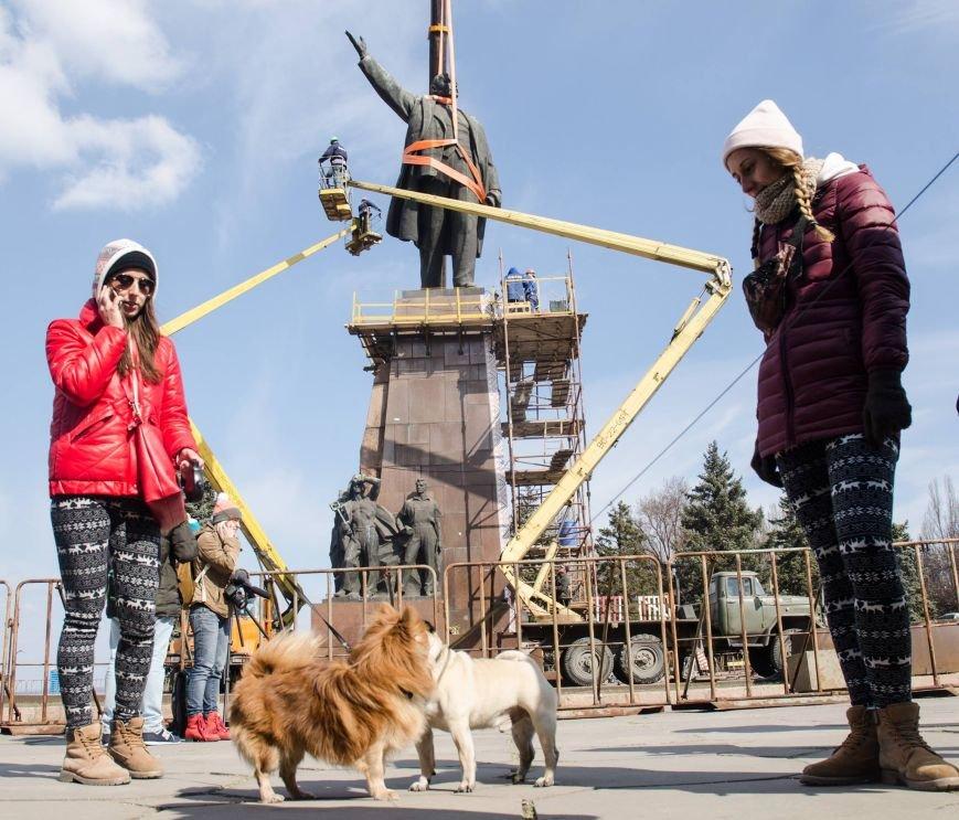 В Запорожье демонтируют самого большого Ленина в Украине: онлайн-трансляция (обновляется), фото-108