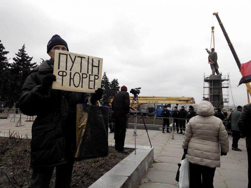В Запорожье демонтируют самого большого Ленина в Украине: онлайн-трансляция (обновляется), фото-45