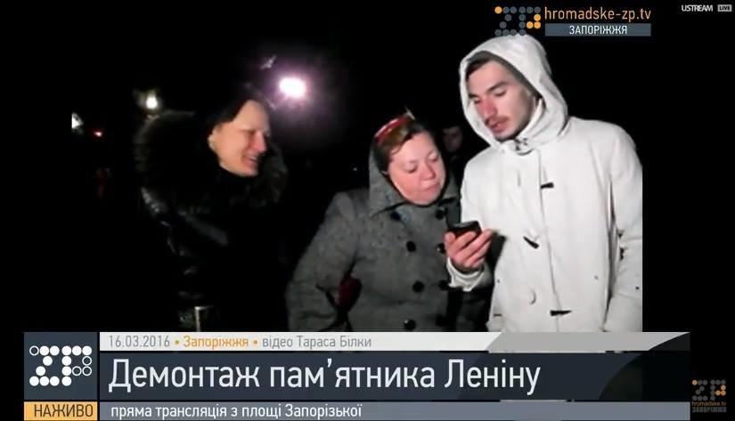 В Запорожье демонтируют самого большого Ленина в Украине: онлайн-трансляция (обновляется), фото-99