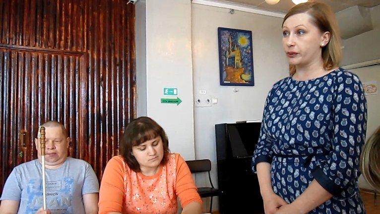 Праздничное заседание в городском Обществе слепых (фото) - фото 1