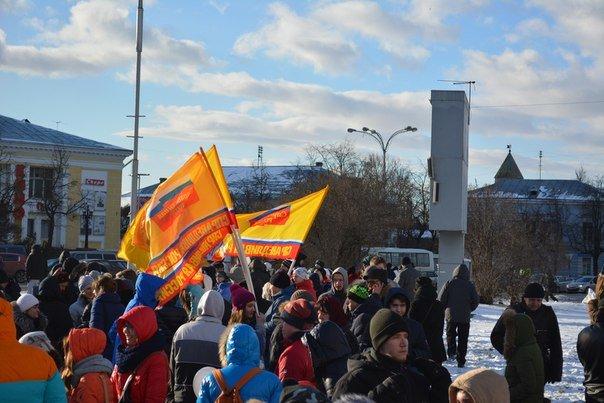 Сегодня в Пскове на площади Ленина состоялся митинг-концерт «Мы вместе!» (фото) - фото 2