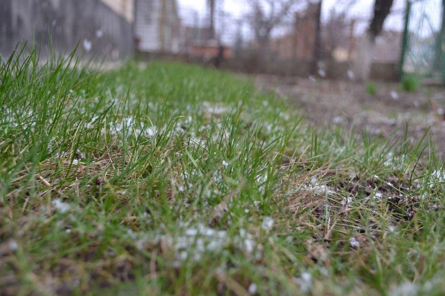 Кривой Рог накрыло мартовским снегом (ФОТО), фото-7