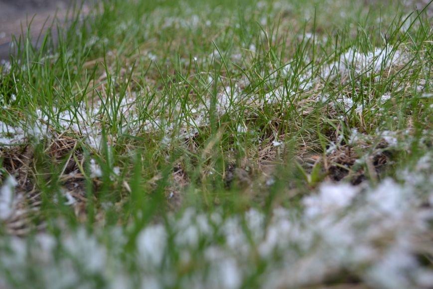 Кривой Рог накрыло мартовским снегом (ФОТО), фото-5