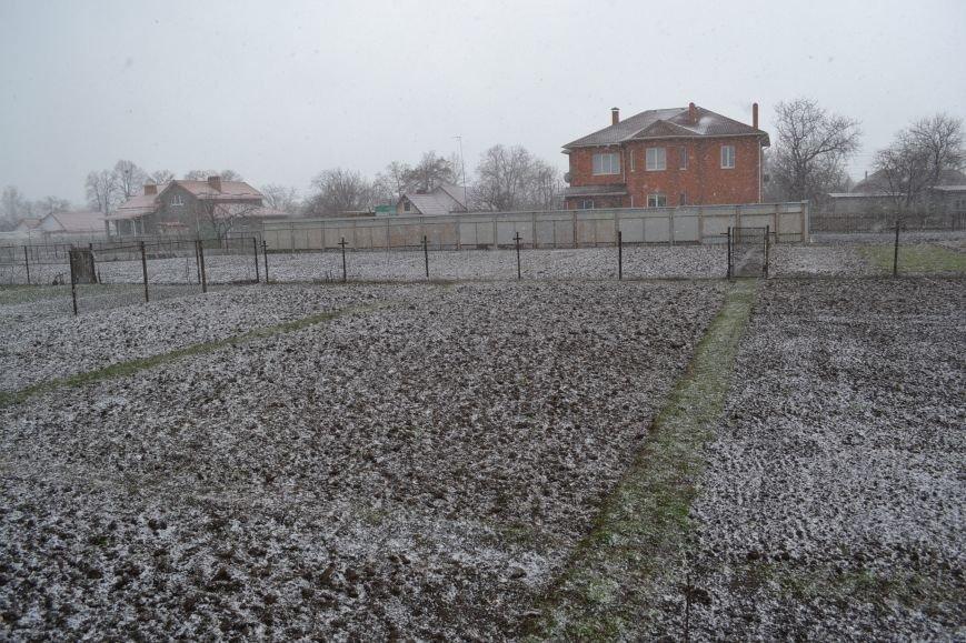 Кривой Рог накрыло мартовским снегом (ФОТО), фото-2