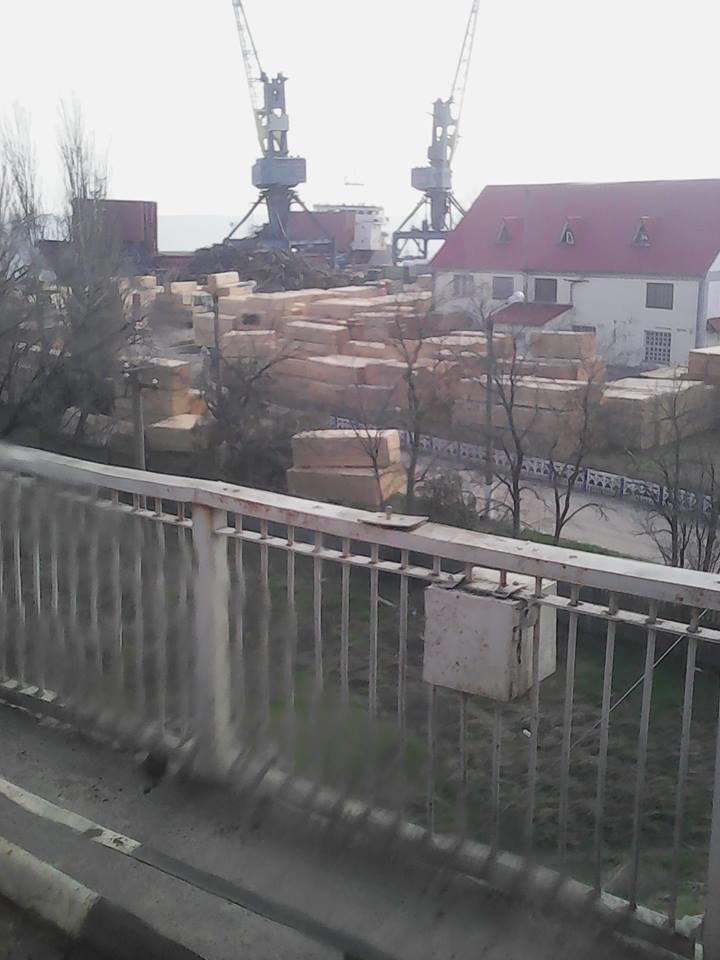 Под окнами дачи одесского прокурора грузят лес на турецкое судно (ФОТО) (фото) - фото 3
