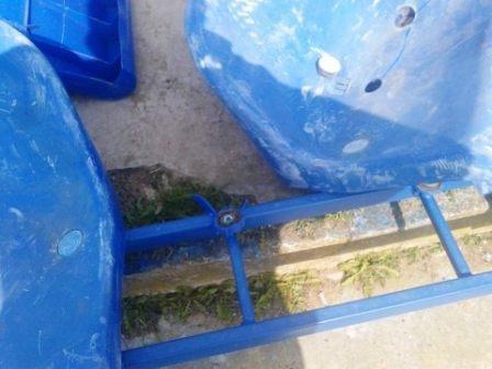 Новые сиденья на стадионе