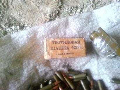 Схрон боеприпасов найден в прифронтовом населенном пункте (ФОТО) (фото) - фото 1